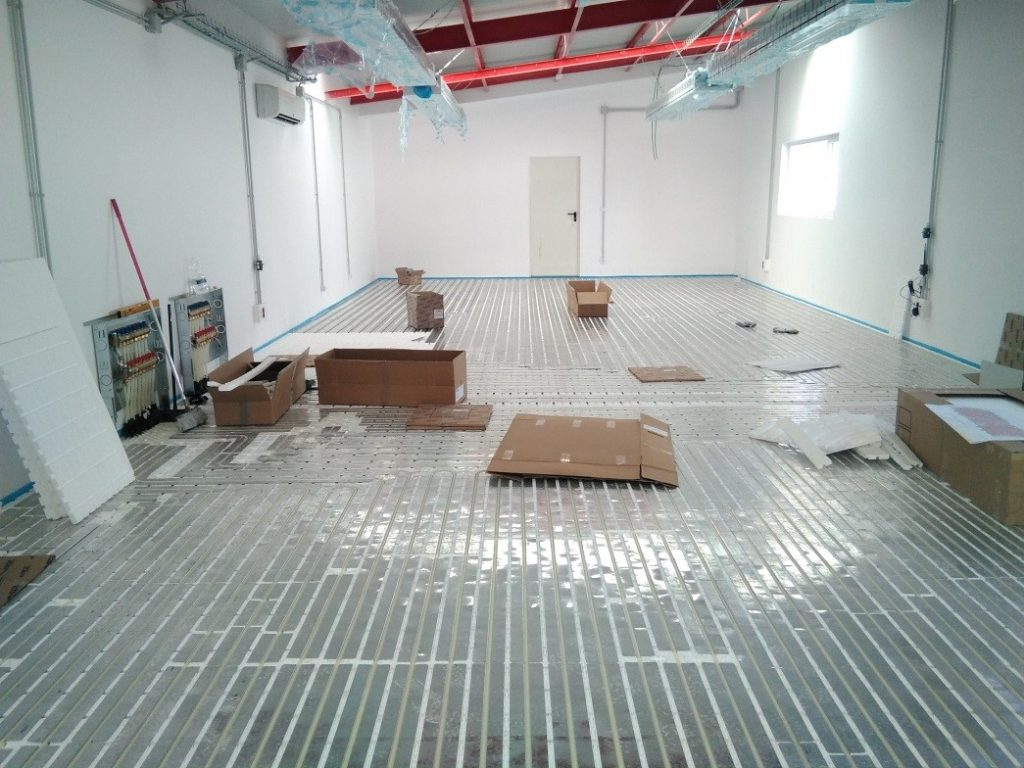 Demo 1 - radiant floor installation process